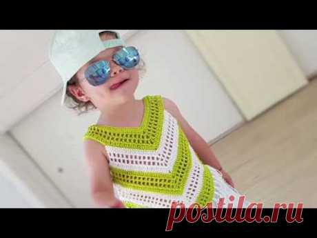 Little Girl Summer Top. Easy crochet tutorial - YouTube