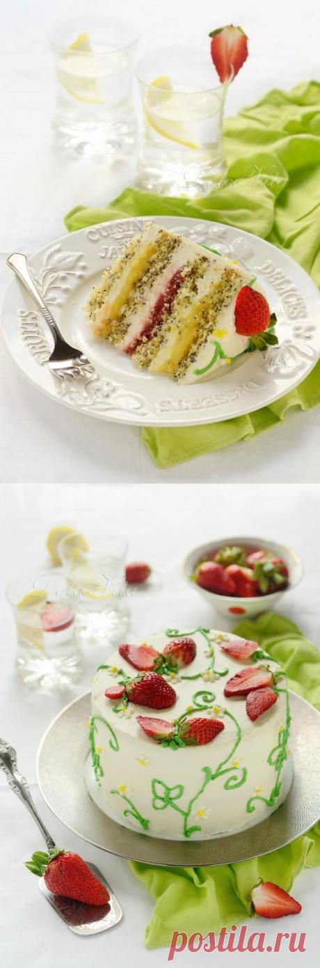 Торт «Лика» с лимоном и клубникой | HomeBaked