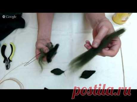 FELTING & ВАЛЯНИЕ. Как свалять веточку вишни на каркасе.