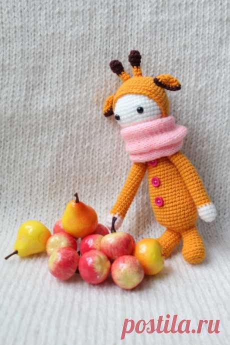Жираф по мотивам lalylala. Описание вязания. – Амигурумик