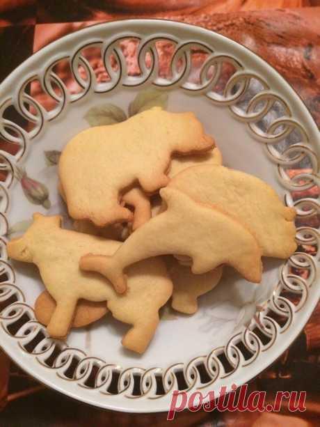 Как приготовить простое песочное печенье  - рецепт, ингредиенты и фотографии