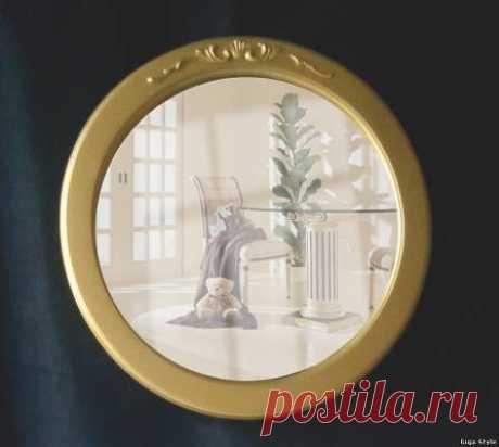 Зеркало круглое с патиной - Зеркала - Giga Style - семейная мебельная мастерская