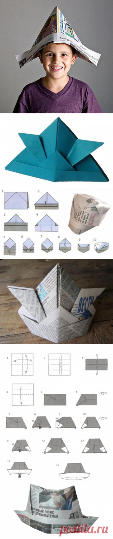 Делаем сами шапку из бумаги