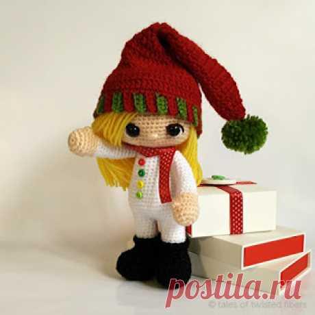 The Christmas Elf | 1000 schemes of an amiguruma in Russian