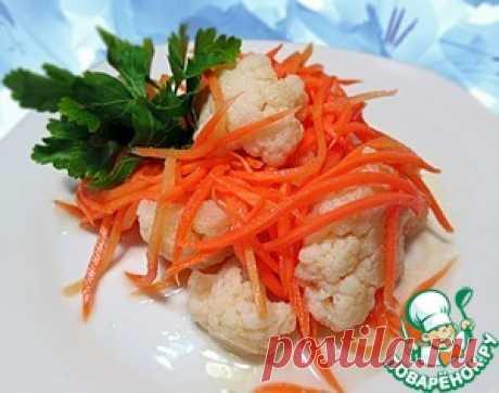 Цветная капуста, маринованная по-корейски - кулинарный рецепт