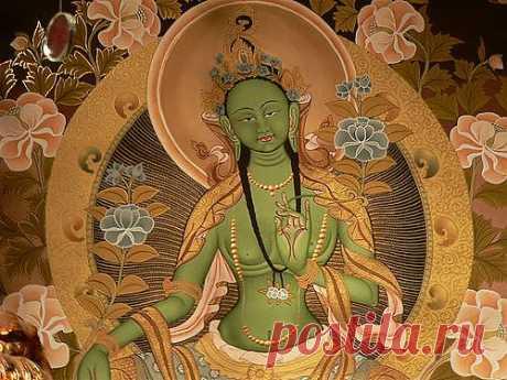 Энергия Зелёной Тары исцеляет от негативных эмоций, помогая осознать их. Зелёная Тара - богиня действия | Ветер и Вода