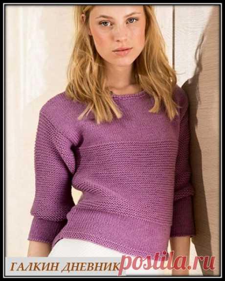 ГАЛКИН ДНЕВНИК : Пуловер платочной вязкой