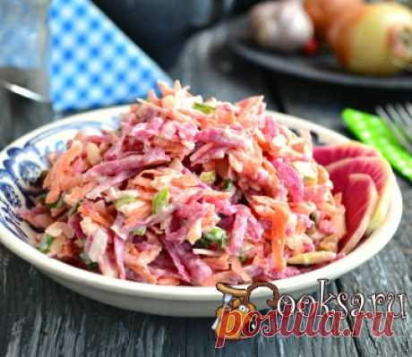 салат из красной редьки с брынзой