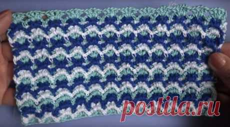 5 videos of lessons: Color winter patterns, knitting by a hook.