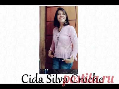 Blusa de crochê Cida Silva Crochê