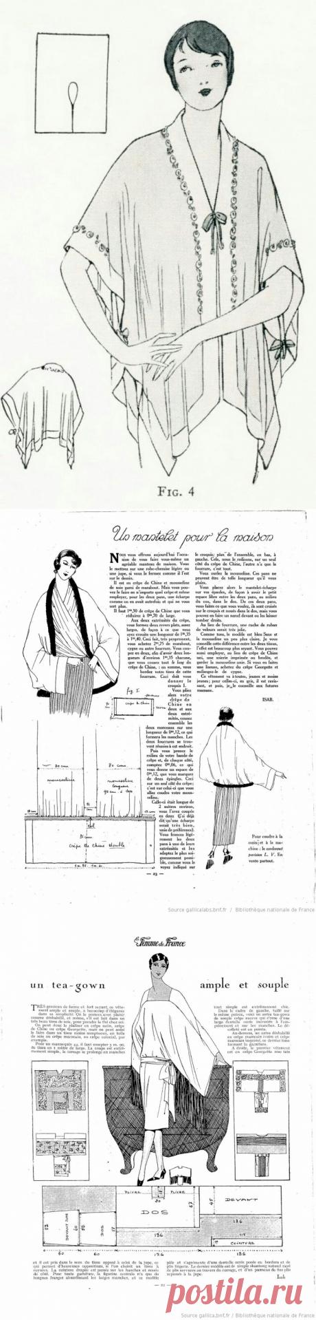 Антикварные выкройки на основе кимоно / Выкройки ретро / ВТОРАЯ УЛИЦА
