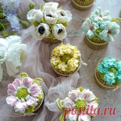 Цветы, которые наверняка захочется съесть первыми  Такие украшения для торта станут изюминкой всего десерта