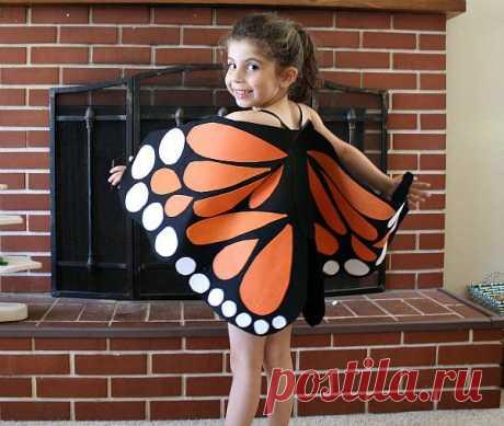 Костюм бабочки для девочки (2 мастер-класса и видеоуроки)