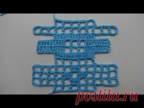 Как достроить и убавить клеточки в технике филейного вязания: видеоурок - Ярмарка Мастеров - ручная работа, handmade