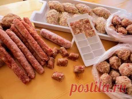 Заморозка еды на неделю за 1 час! Топ-5 полуфабрикатов из фарша