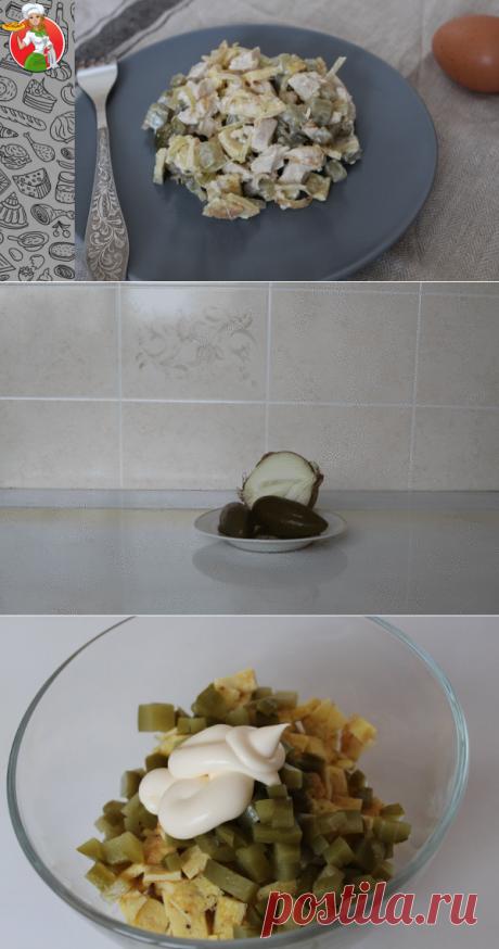 Салат с омлетом и маринованными огурчиками: теперь буду готовить его часто | Рецепты от Джинни Тоник | Яндекс Дзен