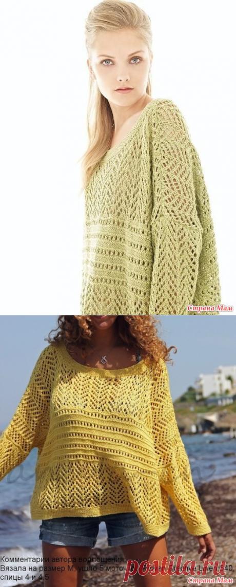 Летний пуловер-оверсайз спицами! - Страна Мам