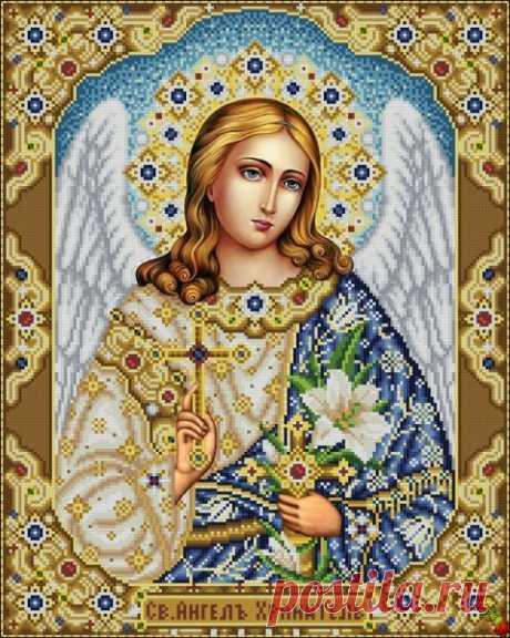 Ангелы Хранители ИК2-0319 Святой Ангел Хранитель. Схема для вышивки бисером Феникс купить в Украине, цена 170,00 грн ИК2-0319