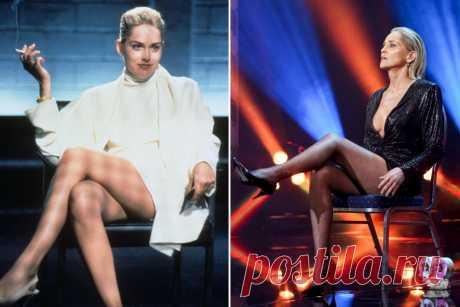 Шэрон Стоун повторила знаменитую сцену из «Основного инстинкта» 27 лет спустя Она всё еще крута.