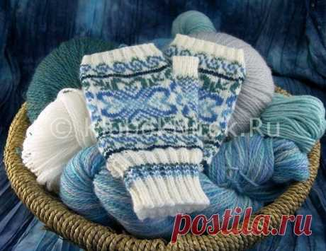 Collection of mitts and mittens jacquard patterns