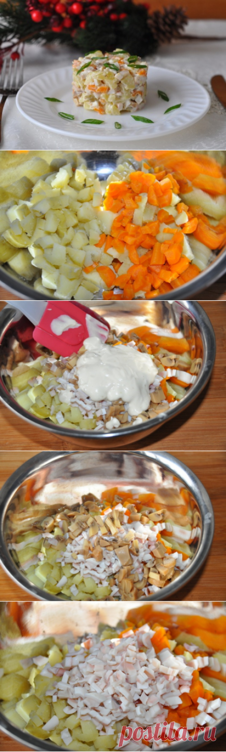 """Салат """"Оливье"""" в японском стиле - Простые рецепты Овкусе.ру"""