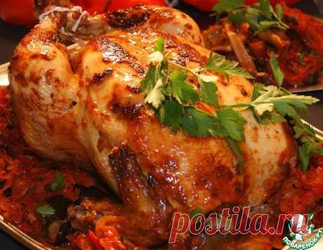 Курица запечённая и баклажаны острые – кулинарный рецепт