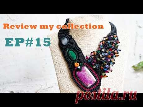 Обзор  коллекция, ожерелье «Узлы макраме», художественные украшения, драгоценный камень, восковой шнур