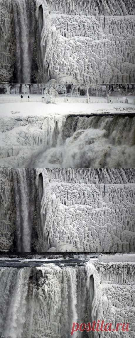 (+1) тема - Замерз Ниагарский водопад. Фото | ТУРИЗМ И ОТДЫХ