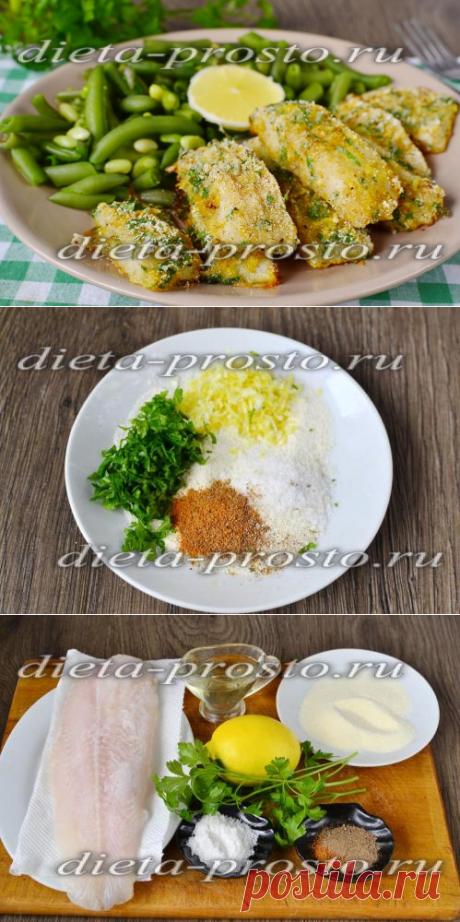 Las varitas dietéticas de pez en las condiciones de casa, la receta en el horno