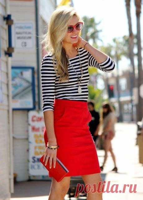 Красная юбка — яркая деталь для настоящей модницы | Люблю Себя