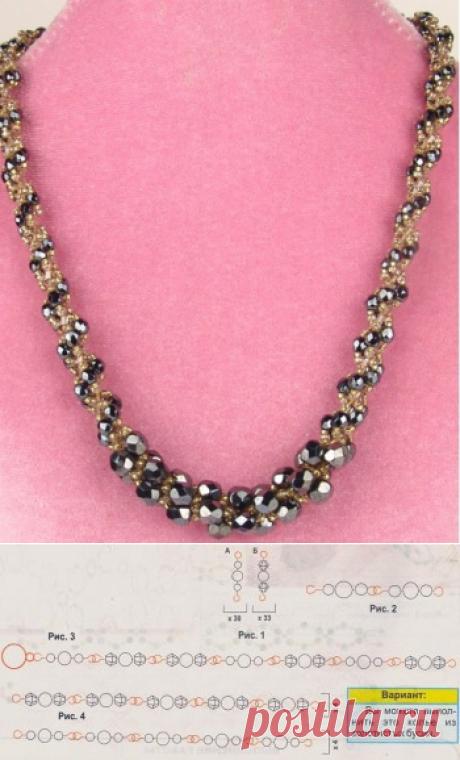 Бусы нежнейшие (3 вида) Колье, бусы, ожерелья – Бисерок