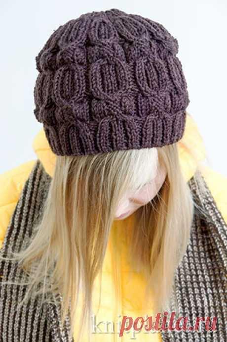 Планета Вязания | Как связать шапку бини спицами. Подробный мастер-класс по вязанию.