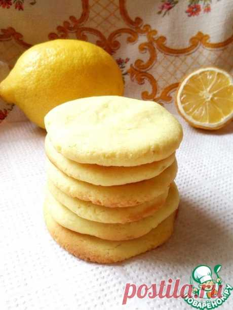 Постное лимонное печенье Кулинарный рецепт