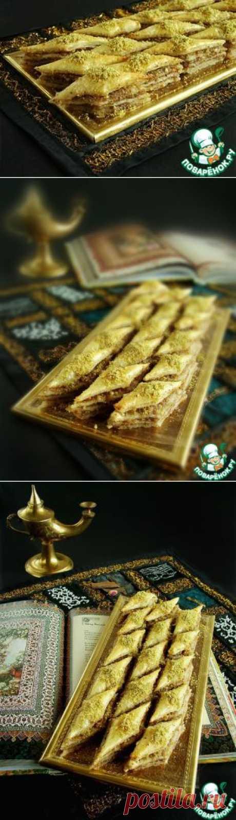 """Слоеный десерт """"Восточный"""" - кулинарный рецепт"""