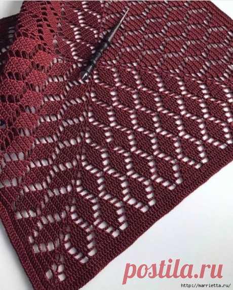 Схема для вязания пледа
