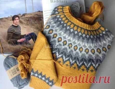 Узор для свитера Лопапейса | Вязаные Идеи.