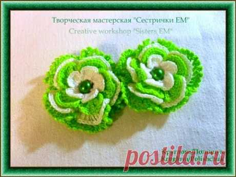 "Роза крючком ""Роза вариант два"" /Rose crochet ""rose option two"""