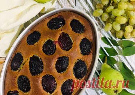 (2) Шарлотка со сливами - пошаговый рецепт с фото. Автор рецепта Теми . - Cookpad