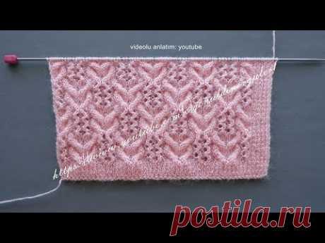 Burgulu gönül odacıkları örgü modeli bayan yelek örneği (Lace knitting pattern)