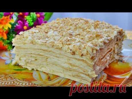"""Торт """"НАПОЛЕОН"""" БЕЗ ВЫПЕЧКИ\Очень вкусный торт  БЕЗ ВЫПЕЧКИ"""
