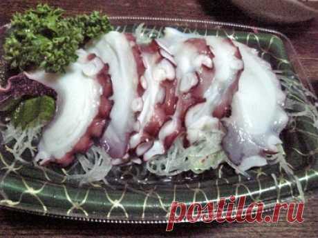 Сашими из осьминга рецепт с фото - Приглашаем к столу