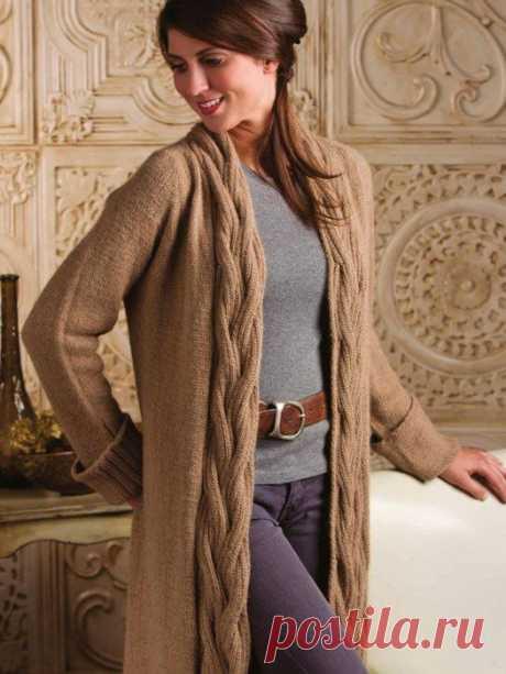 Long knitted jacket from Nancy Rieck spokes.