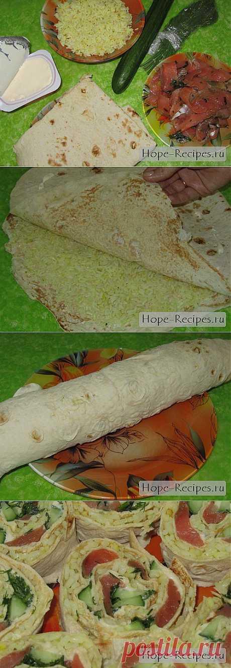 Роллы из лаваша © Кулинарный блог #Рецепты Надежды