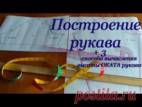 Выкройка одношовного РУКАВА на ЛЮБОЙ размер + 3 способа вычисления ОКАТА рукава