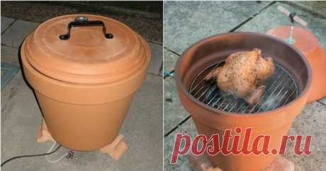 She Bought A Flower Pot Instead Of A Fancy Smoker - 10 Clever Uses For Planters And Flower Pots You can create a fancy smoker and cook an entire chicken with a garden planter.