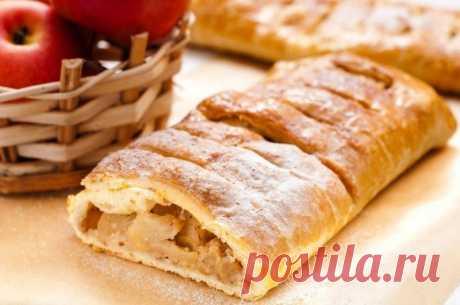 Яблочный штрудель — Sloosh – кулинарные рецепты