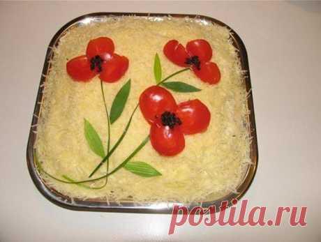 Креативные украшения салатов