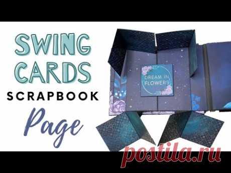 Swing Cards - Tutorial | Scrapbook Ideas | DIY Photo Album Scrapbooking Page