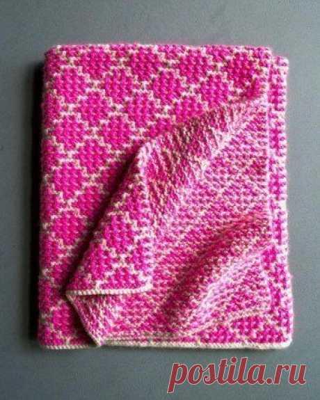 Детский плед в слип-технике спицами. / knittingideas.ru