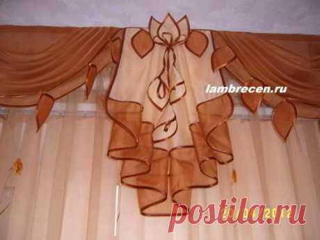 Замечательный сайт по пошиву штор и ламбрекенов, изготовлению цветов из ткани. 39 мастер-классов.